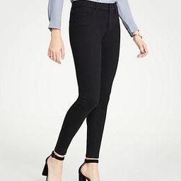Curvy Performance Stretch Skinny Jeans In Black | Ann Taylor (US)