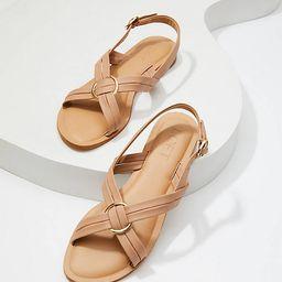 Criss Cross Slingback Sandals | LOFT