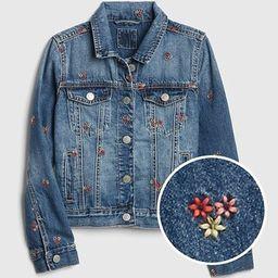 Icon Embroidered Denim Jacket | Gap US