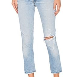 RE/DONE Levis High Rise Ankle Crop in Indigo from Revolve.com | Revolve Clothing (Global)