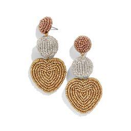 BaubleBar Vitina Beaded Heart Drop Earrings   Neiman Marcus