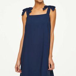 Petite Bow Strap Swing Dress | LOFT Outlet