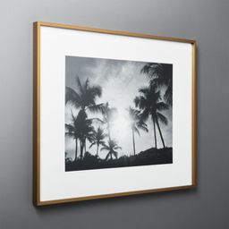 Gallery Brass Frame with White Mat 16x20   CB2