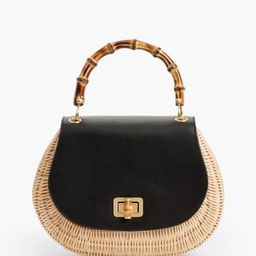 Bamboo-Handle Bag - Leather & Wicker | Talbots