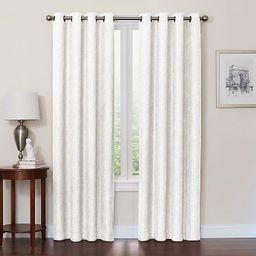 Quinn 120-Inch Grommet Top 100% Blackout Window Curtain Panel in White | Bed Bath & Beyond