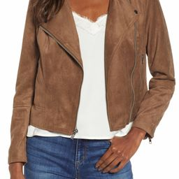 Not Your Baby Faux Suede Moto Jacket | Nordstrom