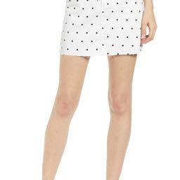 Tinsel Polka Dot Denim Miniskirt | Nordstrom | Nordstrom