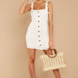 Familiar Me White Dress | Red Dress
