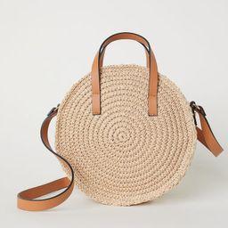 Round Paper Straw Handbag | H&M (US)