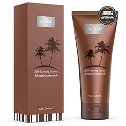 Anjou Self Tanner, Natural Sunless Tanning Lotion for Bronzing and Golden Tan, Streak-Free Medium... | Amazon (US)