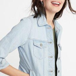 Light-Wash Denim Jacket for Women   Old Navy US