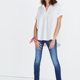 Courier Button-Back Shirt in Pure White   Madewell