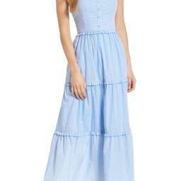 Courtney Rio Stripe Lawn Maxi Dress   Nordstrom