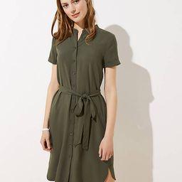 Petite Tie Waist Shirtdress   LOFT