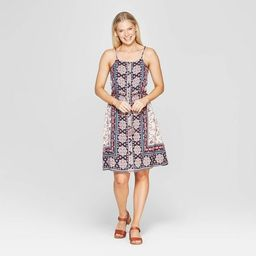 Women's Strappy Printed Button Front Dress - Knox Rose™ Ivory   Target