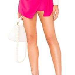 About Us Hillary Wrap Front Skort in Hot Pink from Revolve.com   Revolve Clothing (Global)