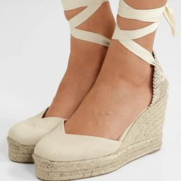 Chiara 80 canvas wedge espadrilles | Net-a-Porter (Global excpt. US)