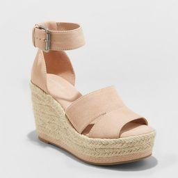 Women's Caroline Microsuede Ankle Strap Espadrille Wedge - Universal Thread™   Target