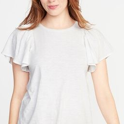 Relaxed Ruffle-Sleeve Top for Women | Old Navy US