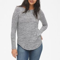 Softspun Long Sleeve Stripe Tunic Top | Gap US