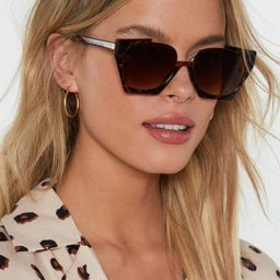 Eye Knew It Cut-Out Tortoiseshell Sunglasses | NastyGal (UK, IE)