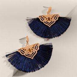 Marisol Tasseled Fan Drop Earrings | Francesca's Collections