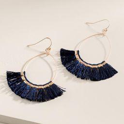 Kennedy Tassel Hoop Earrings | Francesca's Collections