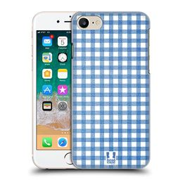 Head Case Designs Blue Gingham-Patterns Hard Back Case for iPhone 7 / iPhone 8 | Amazon (US)