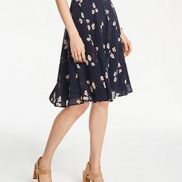 Petite Chiffon Floral Full Skirt | Ann Taylor | Ann Taylor (US)