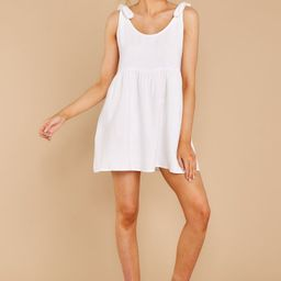 Castaway To Somewhere White Dress | Red Dress