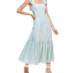 Gal Meets Glam Collection Striped Sleeveless Ruffle Hem Maxi Dress   Neiman Marcus