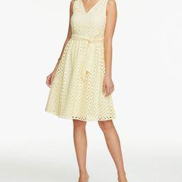 Petite Eyelet Flare Dress | Ann Taylor Factory