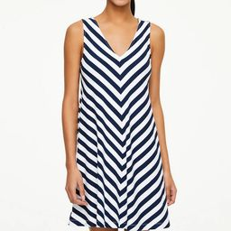 Striped V-Neck Swing Dress | LOFT Outlet