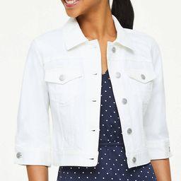 Cropped Denim Jacket | LOFT Outlet