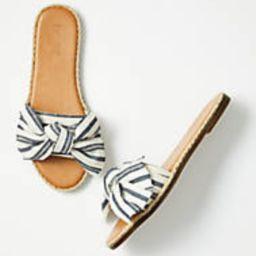 Striped Bow Slide Sandals | LOFT Outlet