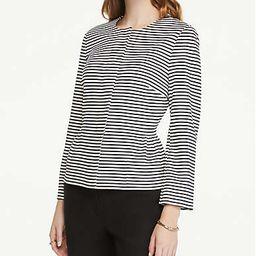 Striped Knit Peplum Jacket | Ann Taylor Factory