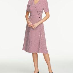 Petite Floral Button Trim Wrap Dress | Ann Taylor Factory