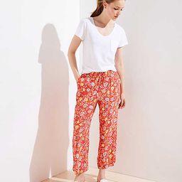 Petite Floral Fluid Drawstring Pants   LOFT   LOFT