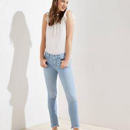 Petite Modern Soft Slim Pocket Skinny Crop Jeans in Staple Light Indigo Wash | LOFT