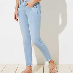 Petite Curvy Soft Slim Pocket Skinny Crop Jeans in Staple Light Indigo Wash | LOFT