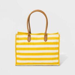 Canvas Boxy Tote Handbag - A New Day™ | Target