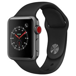 AppleWatch Series3 (GPS+Cellular, 38mm) - Space Gray Aluminium Case with Black Sport Band | Amazon (US)
