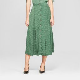 Women's Button Front Full Skirt - Who What Wear™ | Target