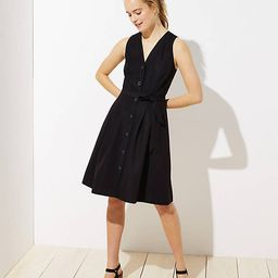 Tall Button Down Pocket Flare Dress | LOFT