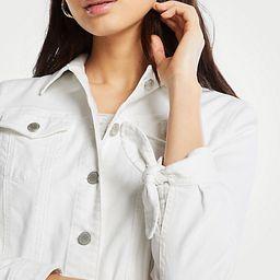 Tie Sleeve Denim Jacket | Ann Taylor | Ann Taylor (US)