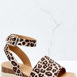 Know The Way To You Leopard Print Flatform Sandals   Red Dress