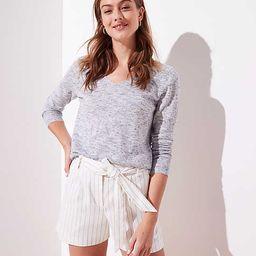 Pinstripe Tie Waist Shorts | LOFT | LOFT