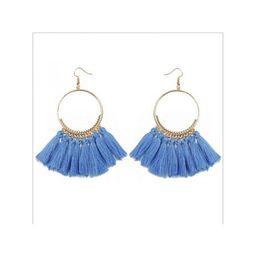 Nicesee Boho Round Circle Tassel Drop Earrings For Women   Walmart (US)