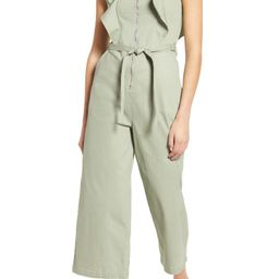 Ruffle Strap Belted Jumpsuit | Nordstrom