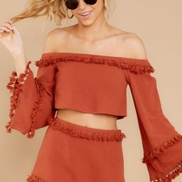 While I'm Around Rust Two Piece Set | Red Dress